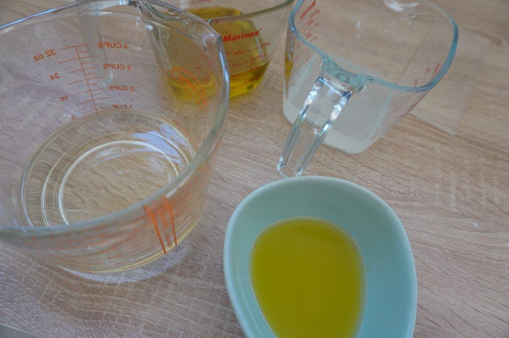 savon basique huiles